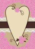 Cartolina d'auguri del biglietto di S. Valentino Immagini Stock