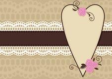 Cartolina d'auguri del biglietto di S. Valentino illustrazione di stock