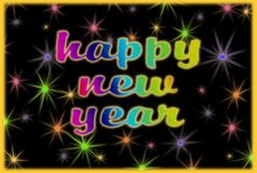 Cartolina d'auguri del buon anno immagine stock
