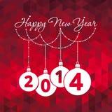 Cartolina d'auguri del buon anno Immagine Stock Libera da Diritti