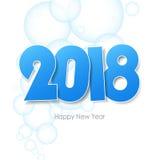 Cartolina d'auguri 2018 del buon anno illustrazione di stock