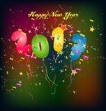 Cartolina d'auguri del buon anno 2017 Fotografia Stock