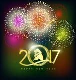 Cartolina d'auguri del buon anno 2017 Fotografia Stock Libera da Diritti