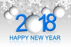 Cartolina d'auguri 2018 del buon anno Immagine Stock Libera da Diritti