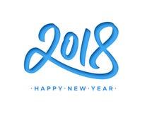 Cartolina d'auguri 2018 del buon anno con il taglio della carta Fotografie Stock Libere da Diritti