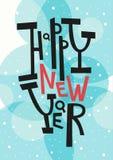 Cartolina d'auguri del buon anno, stampa, decorazione di inverno, foto OV Immagine Stock Libera da Diritti
