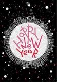Cartolina d'auguri del buon anno, stampa, decorazione di inverno, foto OV Immagini Stock