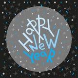 Cartolina d'auguri del buon anno, stampa, manifesto, decorazione di inverno, Immagine Stock Libera da Diritti