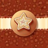 Cartolina d'auguri del cioccolato di natale Fotografia Stock Libera da Diritti