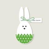 Cartolina d'auguri del coniglietto di pasqua Immagini Stock