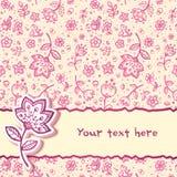 cartolina d'auguri del fiore dell'Mano-illustrazione Fotografie Stock