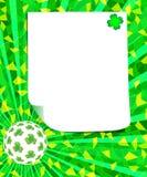 Cartolina d'auguri del giorno di St Patrick con lo spazio della copia Fotografia Stock Libera da Diritti