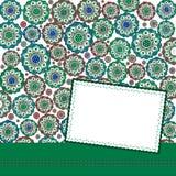 Cartolina d'auguri del modello Immagine Stock