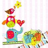 Cartolina d'auguri del modello Fotografia Stock