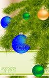 Cartolina d'auguri del nuovo anno Fotografia Stock