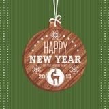 Cartolina d'auguri del nuovo anno con la capra Fotografie Stock