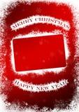 Cartolina d'auguri del nuovo anno e di Natale Fotografie Stock