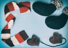 Cartolina d'auguri del nuovo anno e di Natale nel retro stile Fotografie Stock Libere da Diritti