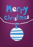 Cartolina d'auguri del taglio della carta di Buon Natale, cartolina Fotografia Stock Libera da Diritti