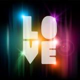 Cartolina d'auguri del testo di amore di giorno di biglietti di S. Valentino Immagini Stock Libere da Diritti