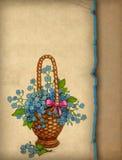 Cartolina d'auguri del Victorian Fotografie Stock