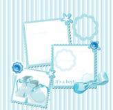 Cartolina d'auguri dell'acquazzone di bambino Immagini Stock