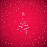 Cartolina d'auguri dell'albero del buon anno Fotografia Stock Libera da Diritti