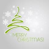 Cartolina d'auguri dell'albero di Buon Natale Progettazione di carta Fotografie Stock Libere da Diritti