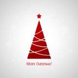 Cartolina d'auguri dell'albero di Buon Natale Progettazione di carta Immagini Stock