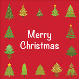 Cartolina d'auguri dell'albero di Natale Fotografia Stock Libera da Diritti