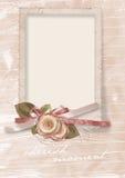Cartolina d'auguri dell'annata a caro con le rose Fotografia Stock
