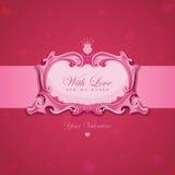 Cartolina d'auguri dell'annata dei biglietti di S. Valentino. Fotografia Stock Libera da Diritti