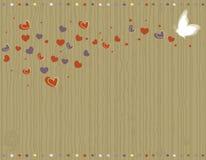Cartolina d'auguri dell'annata di amore illustrazione di stock