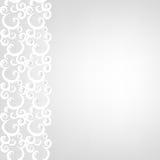 Confine e perle del pizzo illustrazione di stock