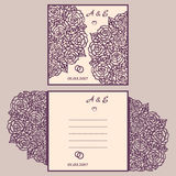Cartolina d'auguri dell'invito o di nozze con l'ornamento astratto Fotografia Stock