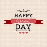 Cartolina d'auguri dell'iscrizione di San Valentino Fotografie Stock
