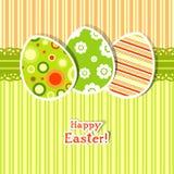 Cartolina d'auguri dell'uovo del modello Immagine Stock Libera da Diritti