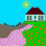 Cartolina d'auguri della Camera di Congrats Fotografie Stock
