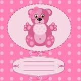 Cartolina d'auguri della neonata, fondo di vettore Immagini Stock Libere da Diritti