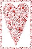 Cartolina d'auguri di amore illustrazione vettoriale