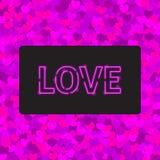 Cartolina d'auguri di amore con un neon royalty illustrazione gratis