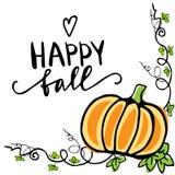 Cartolina d'auguri di autunno di caduta Fotografia Stock