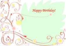 Cartolina d'auguri di buon compleanno Fotografie Stock