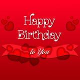 Cartolina d'auguri di buon compleanno Immagini Stock Libere da Diritti