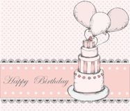 Cartolina d'auguri di buon compleanno Fotografie Stock Libere da Diritti