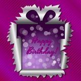 Biglietto di auguri per il compleanno felice Immagini Stock Libere da Diritti