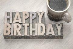 Cartolina d'auguri di buon compleanno nel tipo di legno Immagine Stock Libera da Diritti