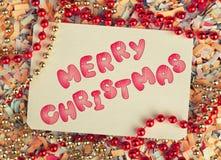 Cartolina d'auguri di Buon Natale immagine stock