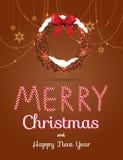 Cartolina d'auguri di Buon Natale Fotografia Stock Libera da Diritti