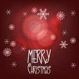Cartolina d'auguri di Buon Natale Fotografia Stock